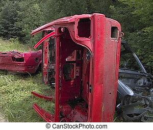 Auto bodies scrap metal