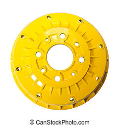 auto brake wheel. Isolated on white with clipping path