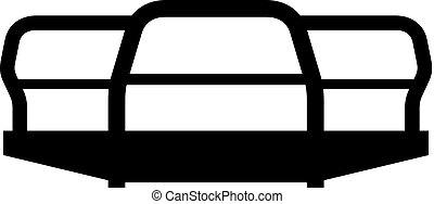 auto bumper, pictogram