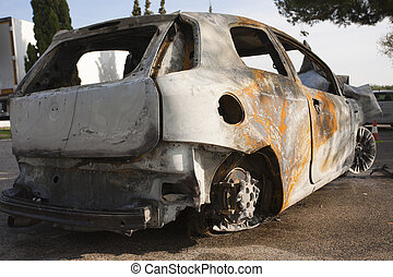 auto, burning