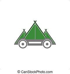 auto, campeggiare