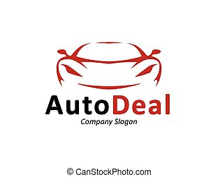Auto car dealership logo design with concept sports vehicle...