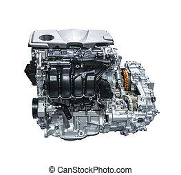 auto car engine isolated on white