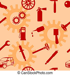 Auto Car Repair Service Icon Symbol.