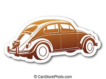 auto, carta, vecchio, caramello, dolce