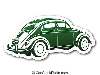 auto, carta, vecchio, verde, dolce