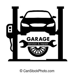 Auto center, garage service and repair logo, Vector Template...