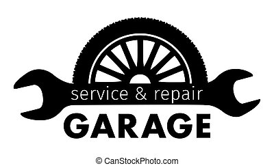 Auto center, garage service and repair logo,Vector Template.