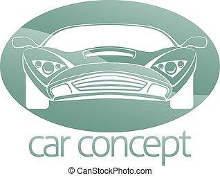 auto, cirkel, concept, luxe