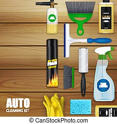 Auto Cleaning Set Background