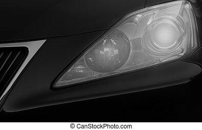 auto, closeup