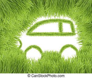 auto, concept, eco-vriendelijke