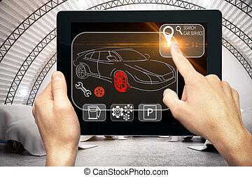 auto, concetto, meccanico, innovazione