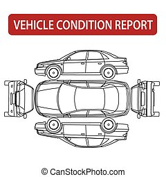 auto, condizione, relazione, (car, assegno