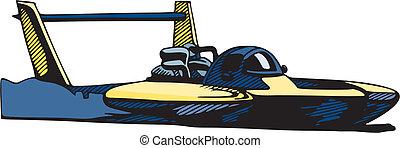 auto correr, bote