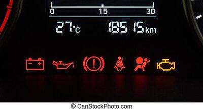 Symbolen Dashboard Auto Theorie Archidev