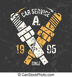 auto dienst, embleem