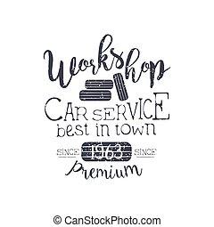 auto dienst, ouderwetse , postzegel