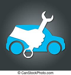 auto, disegno, riparazione