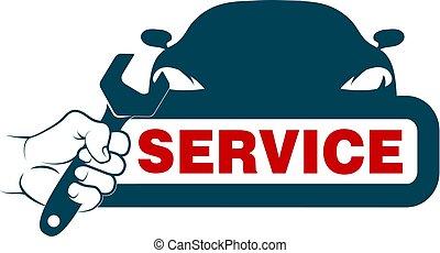 auto, disegno, servizio