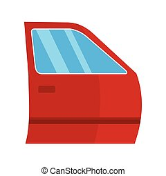 Auto Door icon, flat style