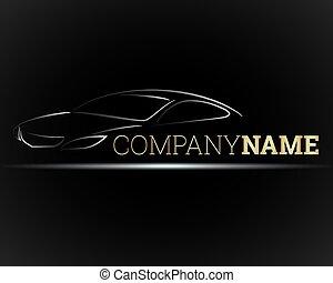 auto, embleem, voor, bedrijven