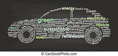 auto, energie, schoonmaken
