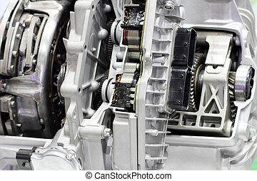auto, engine., closeup