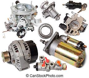 auto, ensemble, pièces détachées
