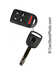 auto, entfernt, schlüssel