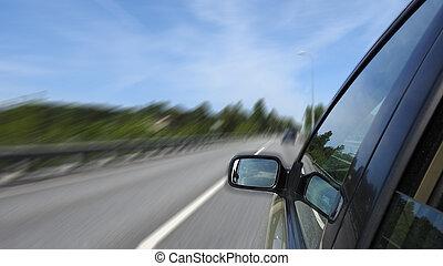 auto-estrada, car, dirigindo