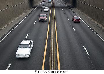 auto-estrada, tráfego