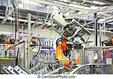 auto fabriek, robots