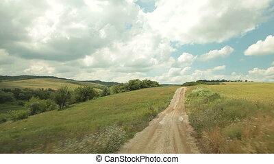 auto, fahren, ländlicher weg