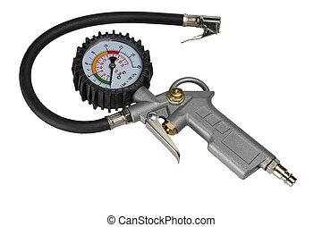 auto, fahrradreifen, manometer, manometer, für, luftpumpe, inflator, mit, saugschlauch
