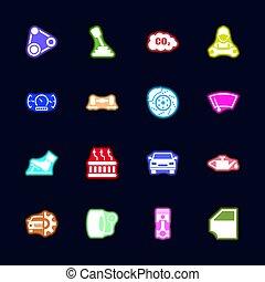 Auto - Flat Vector Icons