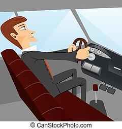 auto, geschaeftswelt, fahren, mann