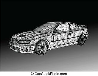 auto, gleichfalls, designed., vektor