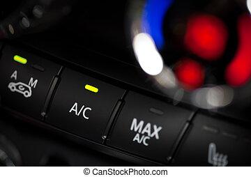 auto, het conditioneren, lucht