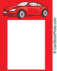 auto, -, hintergrund, rotes