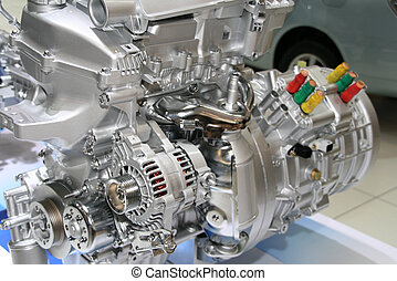 auto, hybride, motor