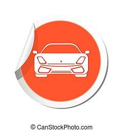 auto, icon., illustratie, vector
