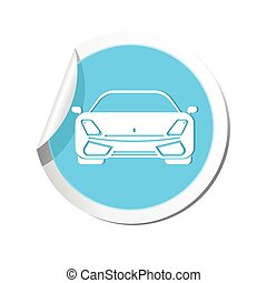 auto, icon., vector, illustratie