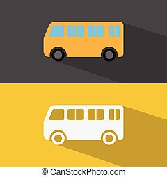 auto, icon., vector