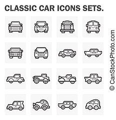 auto, iconen