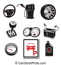 Auto icons - A vector illustration of auto icons