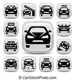 auto icons - Elegant Auto Icons Set Created For Mobile, Web ...