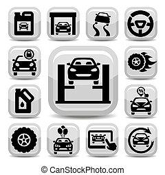 auto icons set
