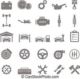 Auto Icons. vector