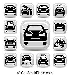auto, ikony